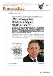 Presseschau 360° WIRKSAMKEIT Parkettmaganzin  06-2011-thumbnail