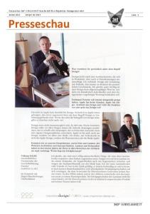 Presseschau 360° WIRKSAMKEIT design! 01-2013-thumbnail